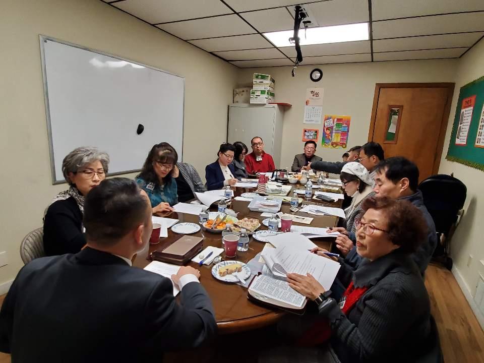 12-29-2019: 새신자반 교육및 수료